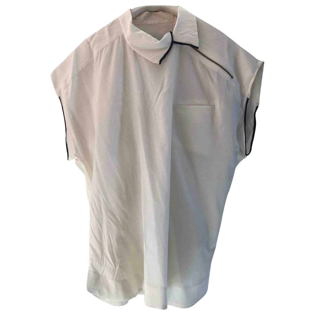 Toga Archives - Top   pour femme en soie - blanc