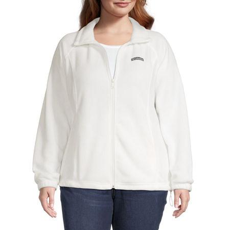 Columbia Benton Springs Fleece Lightweight Jacket-Plus, 2x , White