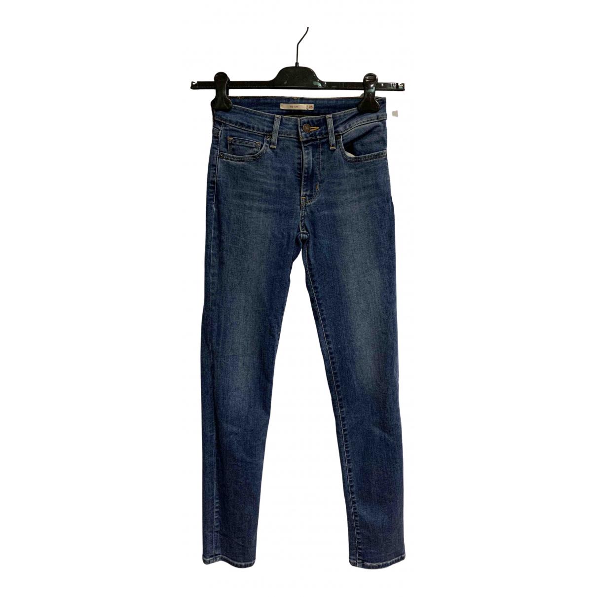 Levi's 712 Blue Denim - Jeans Jeans for Women 25 US