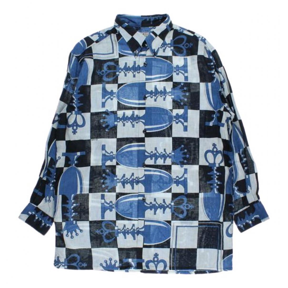 Hermès \N Blue Linen Shirts for Men XXXL International