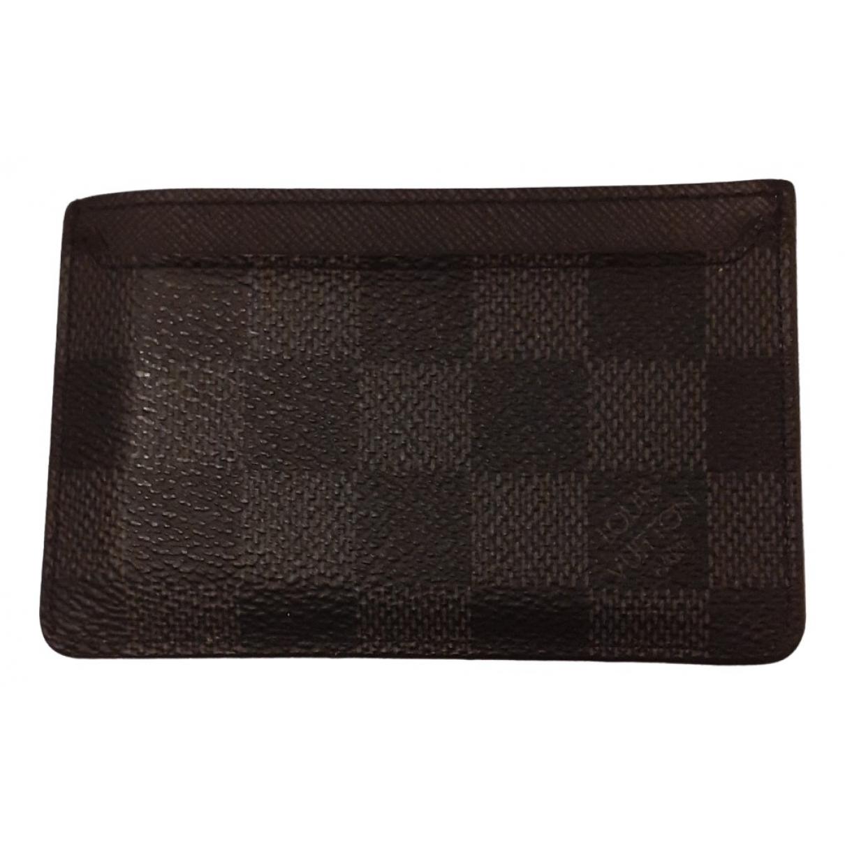 Louis Vuitton - Petite maroquinerie  Coin Card Holder pour homme en toile - noir