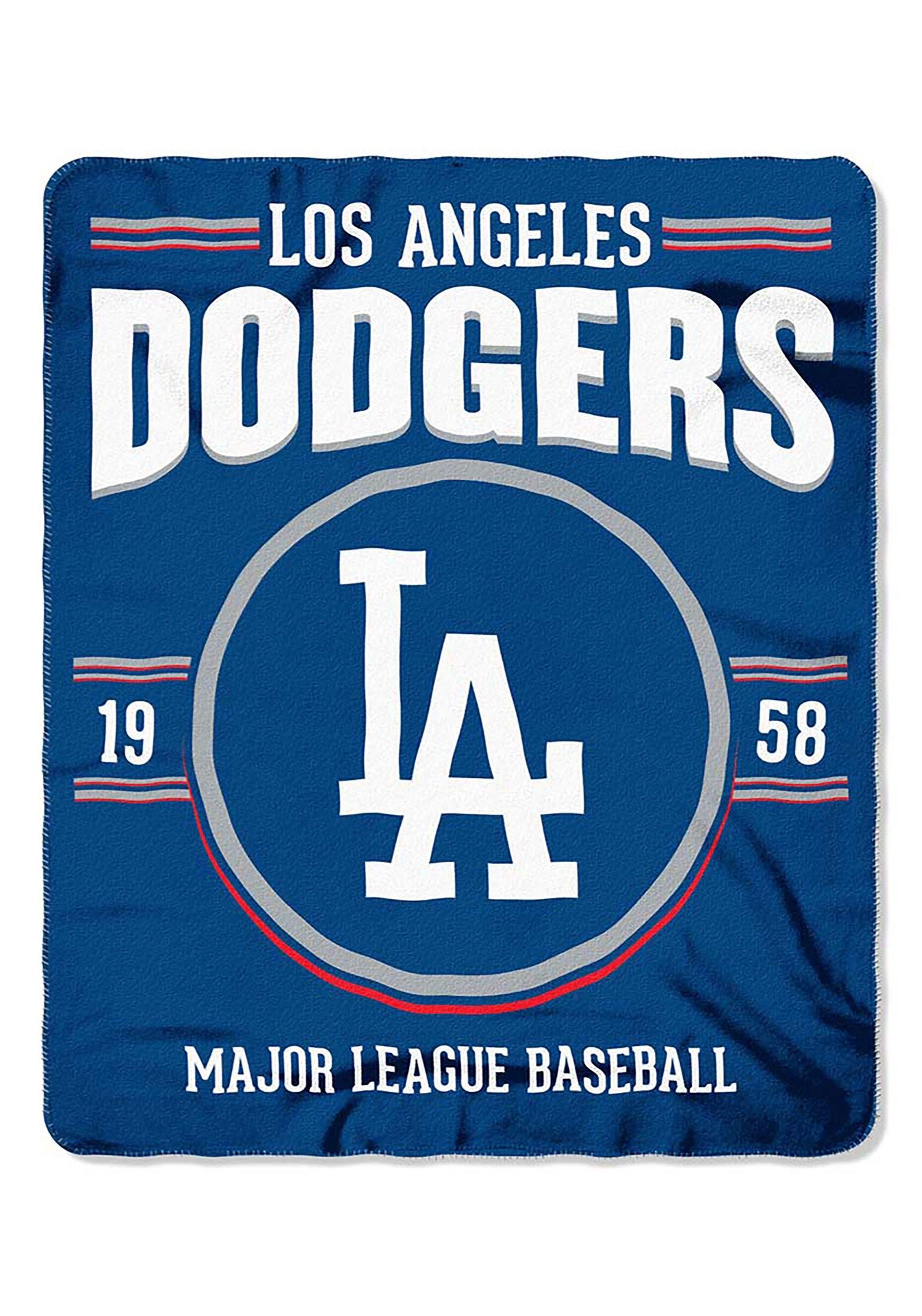 MLB Los Angeles Dodgers Strength Fleece Throw