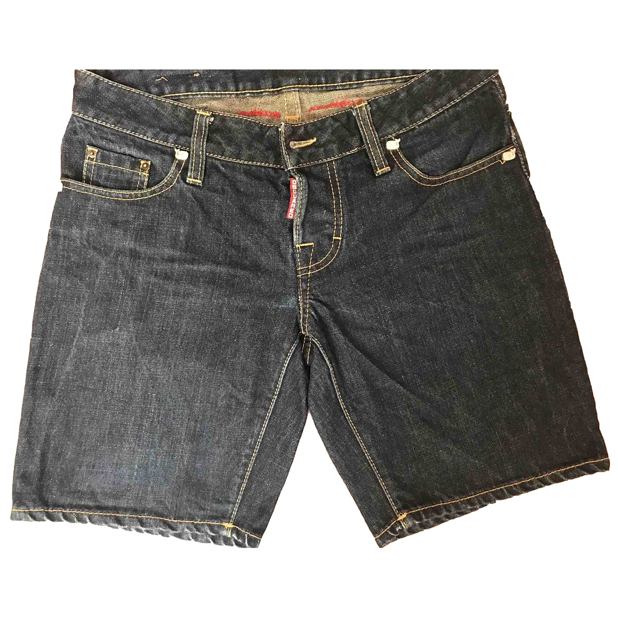 Dsquared2 \N Blue Cotton Shorts for Women 40 IT