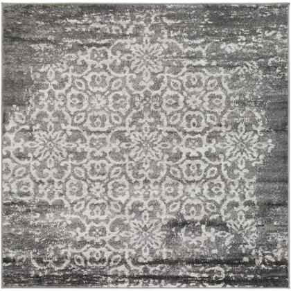 Monte Carlo MNC-2305 53 Square Traditional Rug in Charcoal  Light Gray