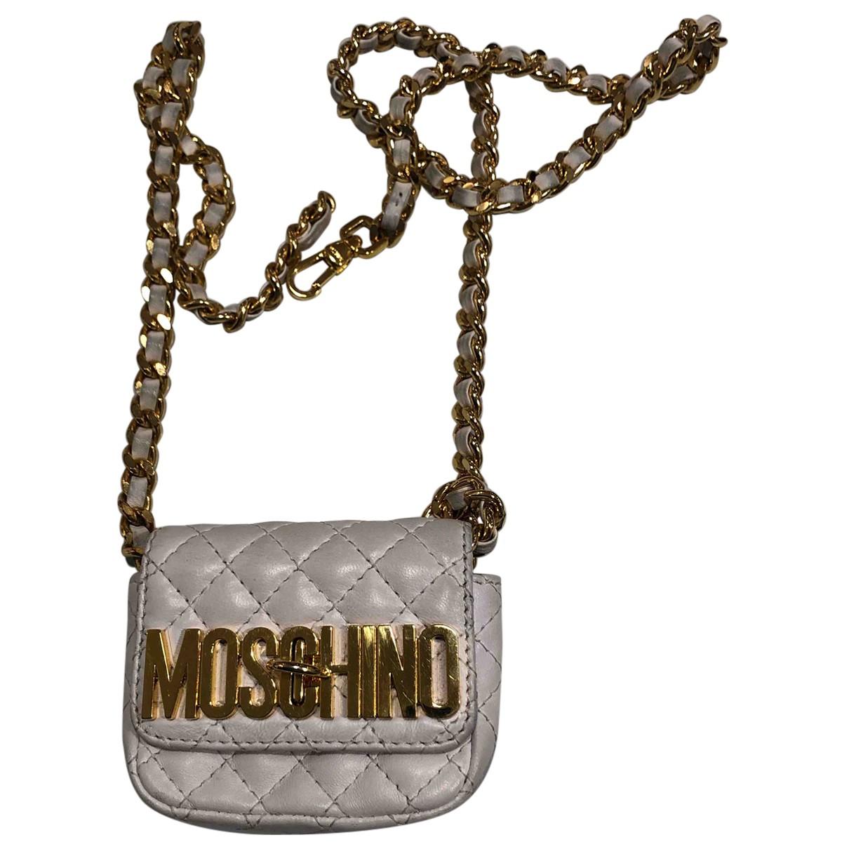 Moschino - Sac a main   pour femme en cuir - dore