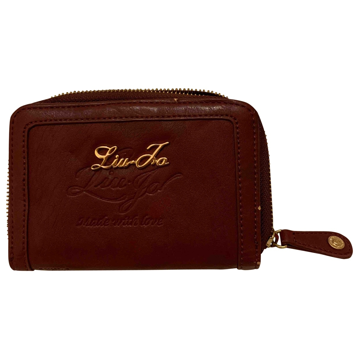 Liu.jo \N Burgundy Leather wallet for Women \N