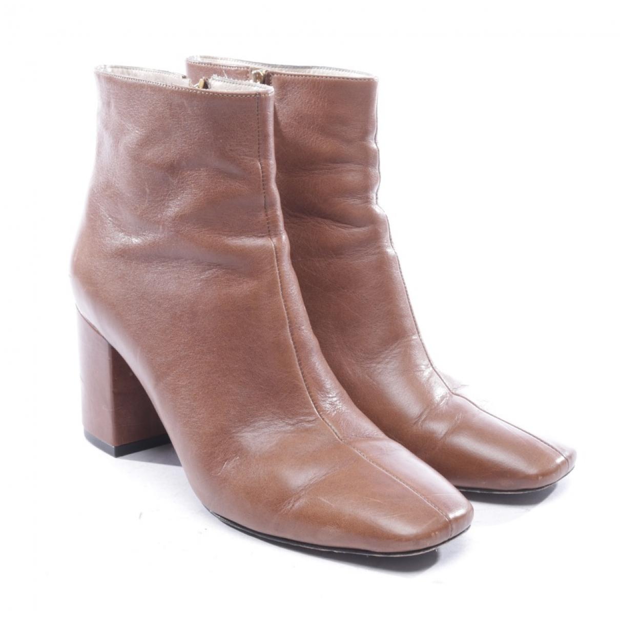 Anine Bing - Boots   pour femme en cuir - marron