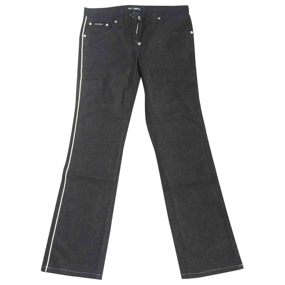 Dolce & Gabbana \N Black Denim - Jeans Trousers for Women 44 IT