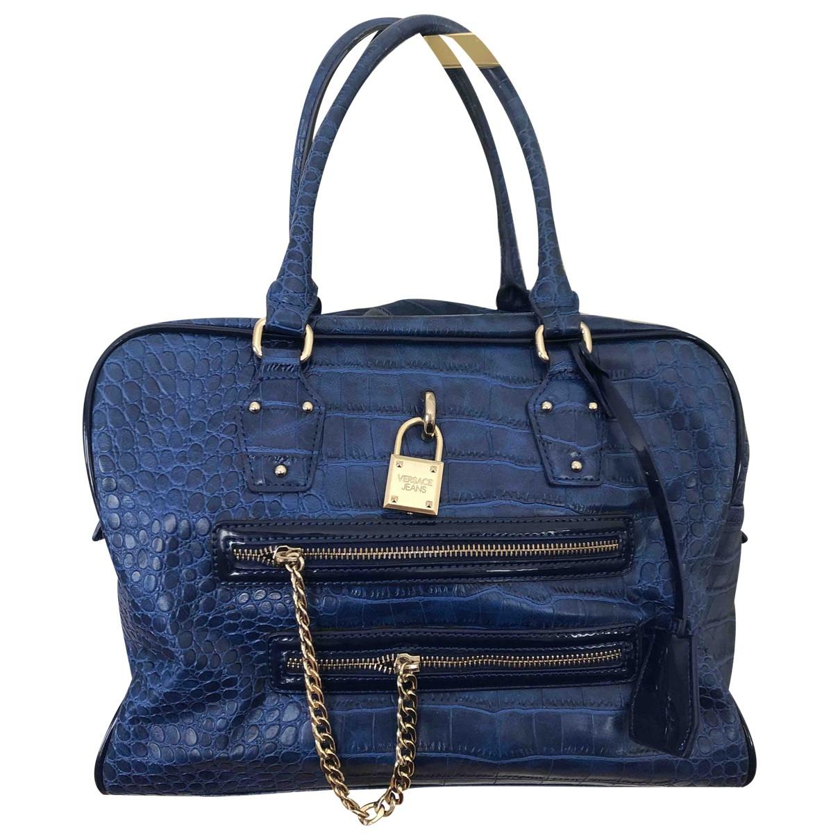 Versace Jean - Sac a main   pour femme - bleu
