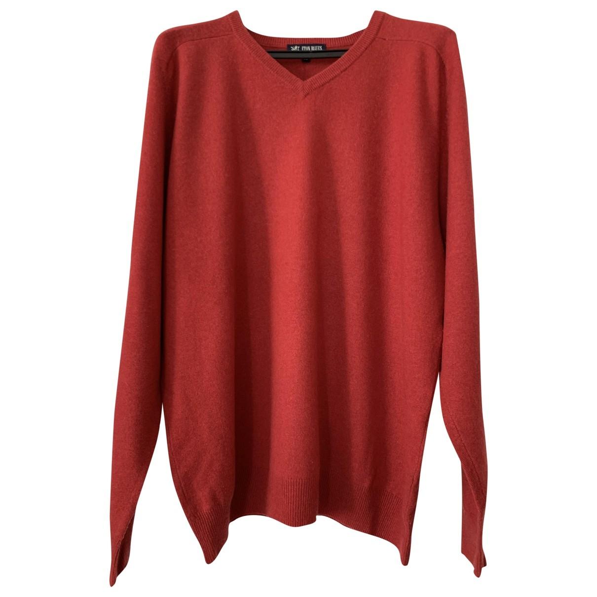 Non Signe / Unsigned \N Pullover.Westen.Sweatshirts  in  Rot Kaschmir