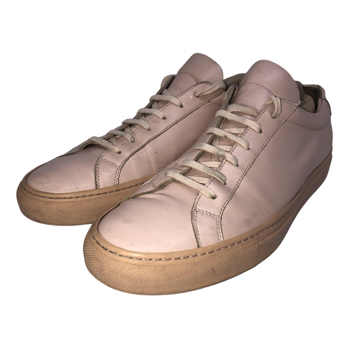 Common Projects \N Pink Leather Trainers for Men 10 US