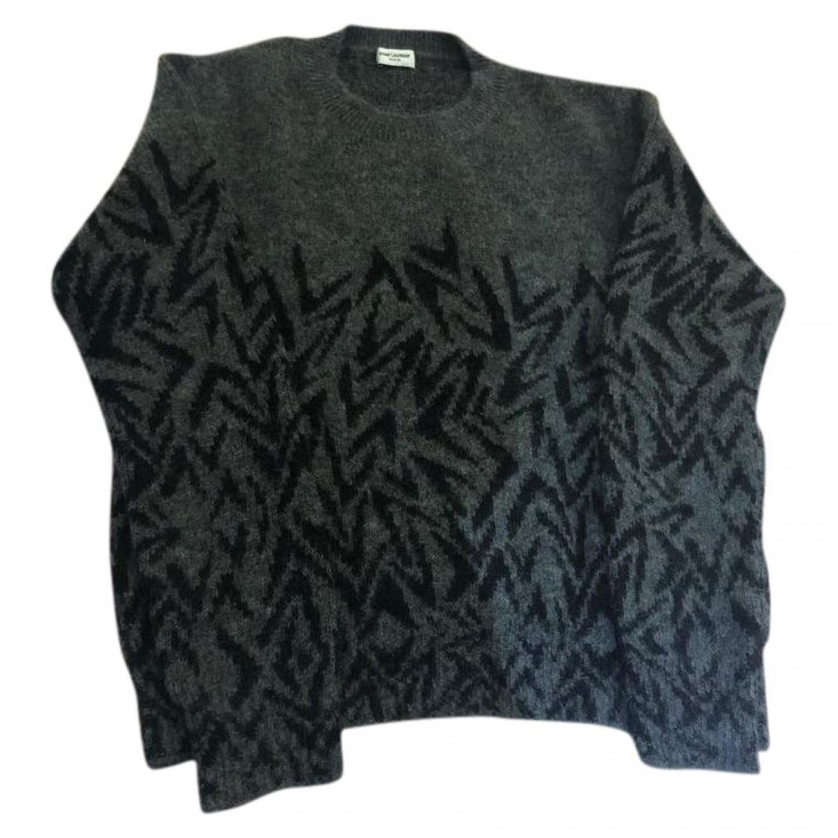 Saint Laurent \N Pullover.Westen.Sweatshirts  in  Anthrazit Wolle