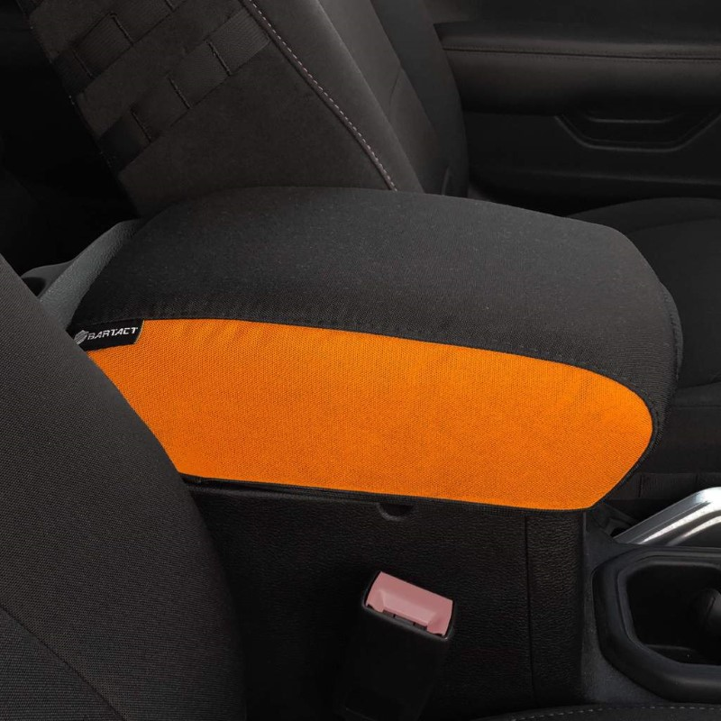 Bartact JTIA2019CCNB 2019 and Up JT Gladiator Padded Center Console Cover Orange/Black