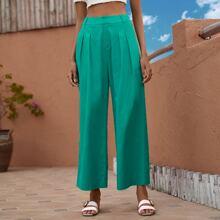 Hose mit hoher Taille und breitem Beinschnitt