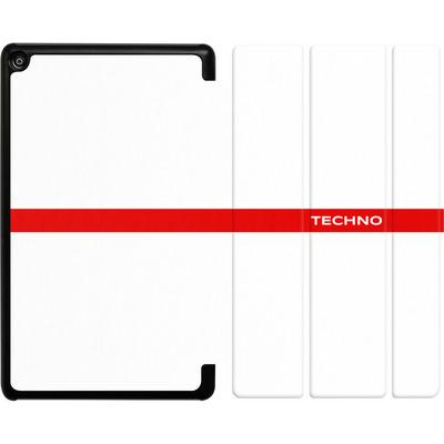 Amazon Fire HD 8 (2018) Tablet Smart Case - RED LINE von Berlin Techno Collective