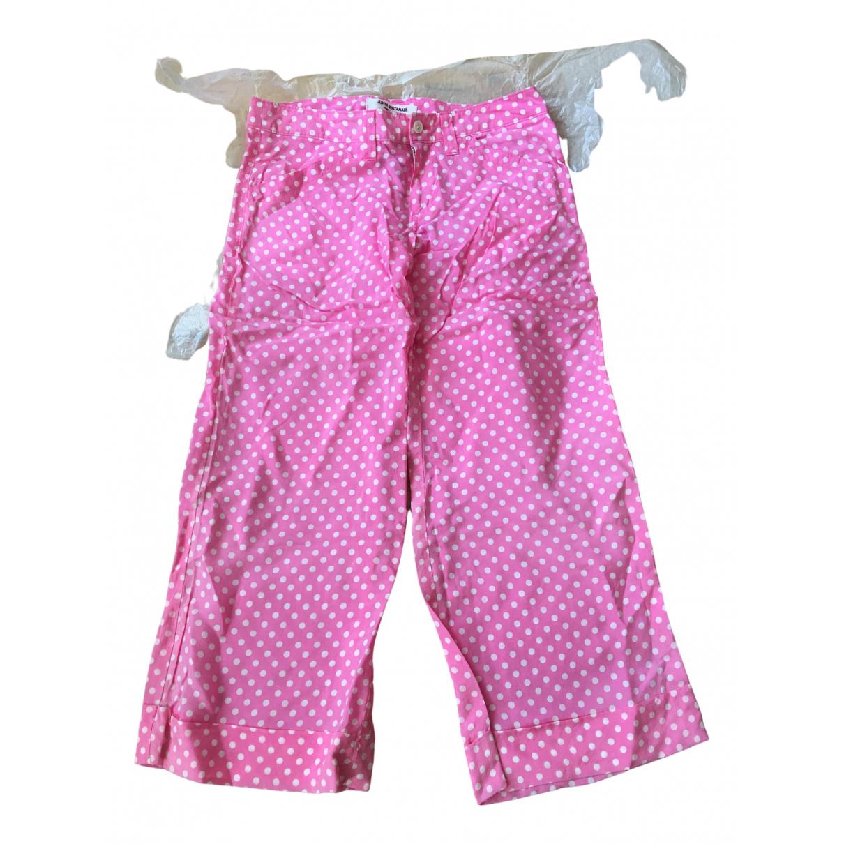 Pantalon en Viscosa Rosa Junya Watanabe