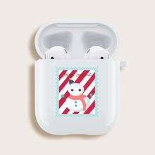 Christmas Snowman Pattern Airpods Case