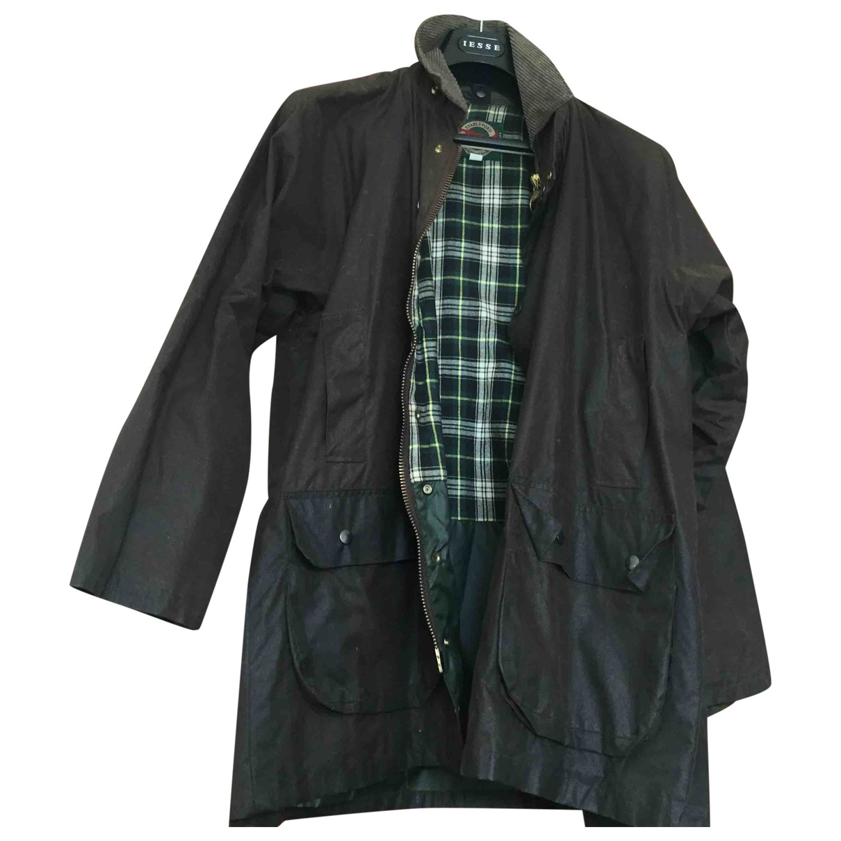 Non Signé / Unsigned \N Green Cotton jacket for Women 38 FR