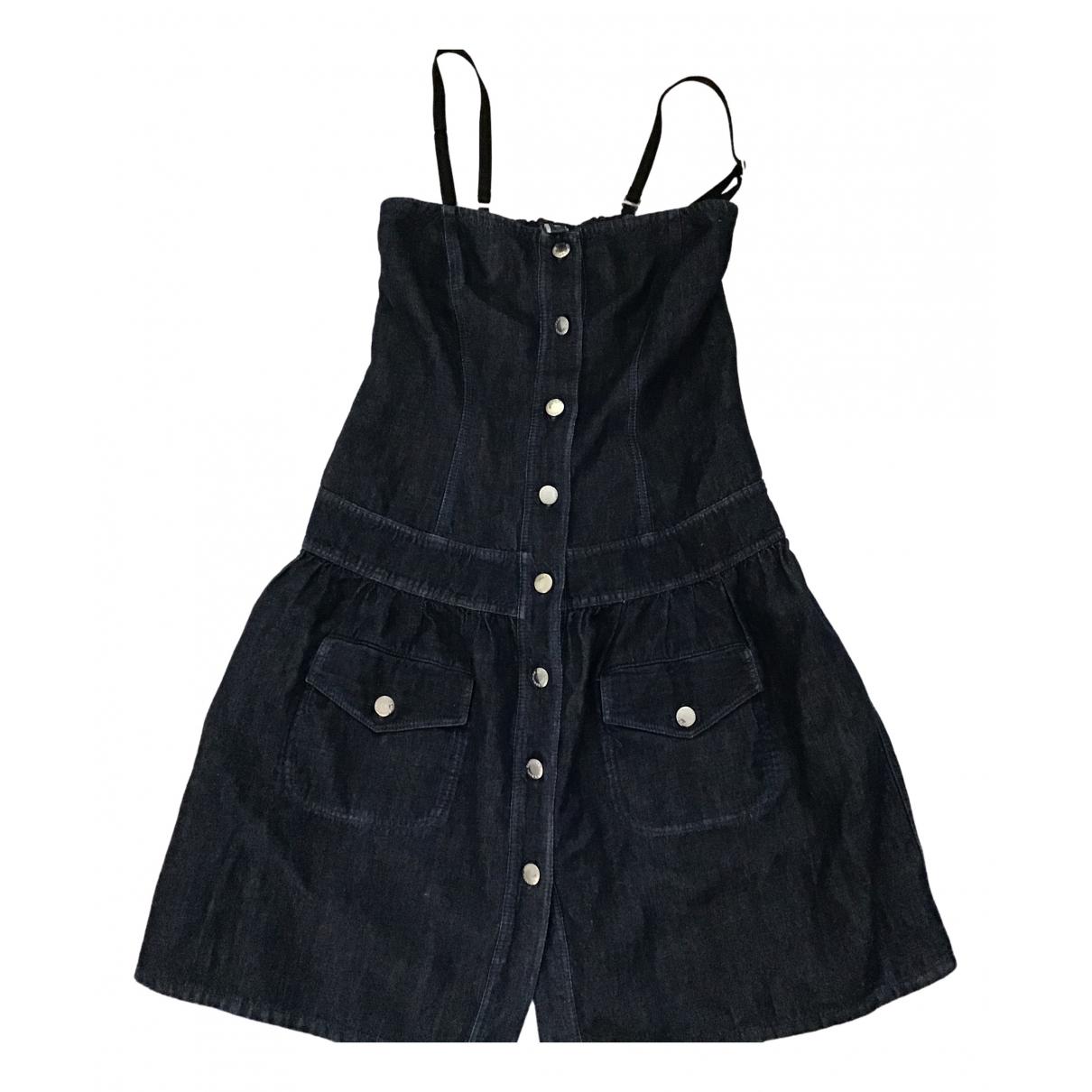 Jean Paul Gaultier \N Kleid in  Blau Baumwolle