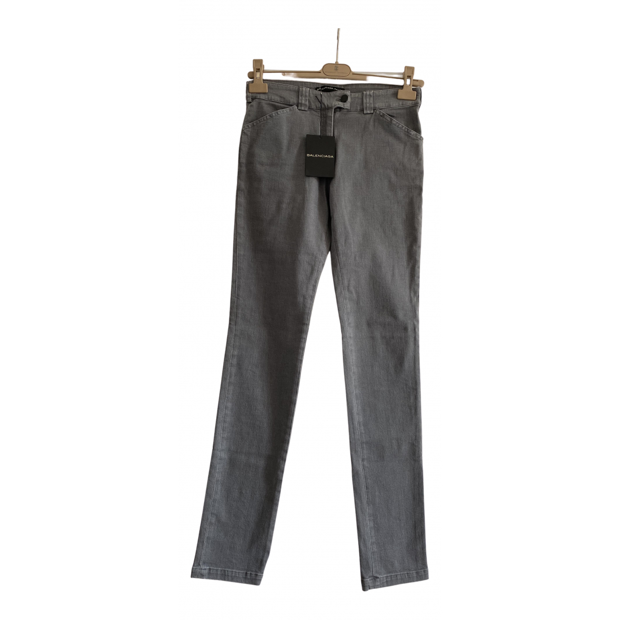 Balenciaga - Jean   pour femme en coton - elasthane - gris