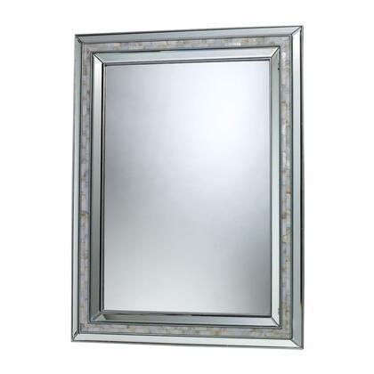 DM1948 Sardis Mirror  In Brushed Steel  Mother Of