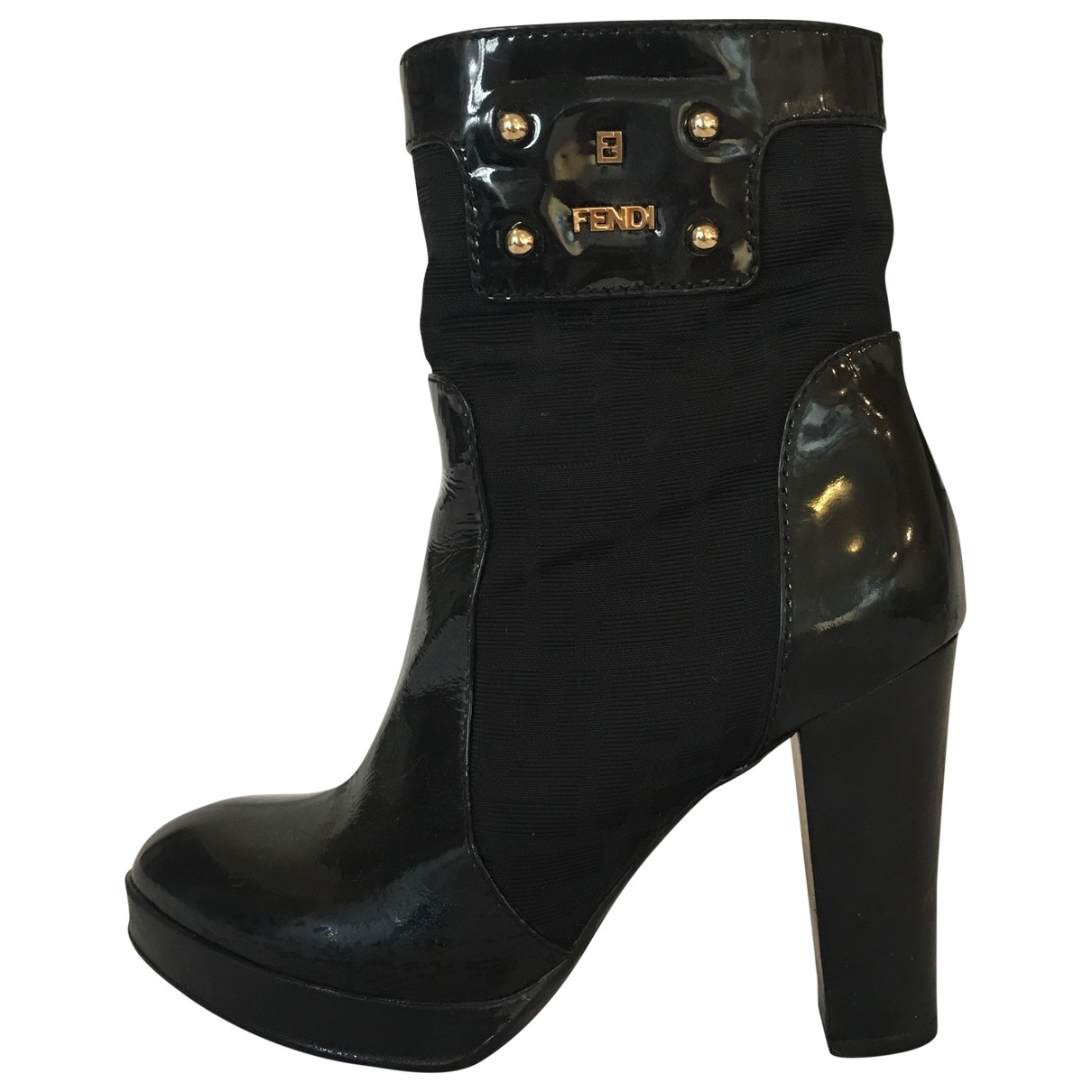 Fendi \N Black Patent leather Ankle boots for Women 38.5 EU