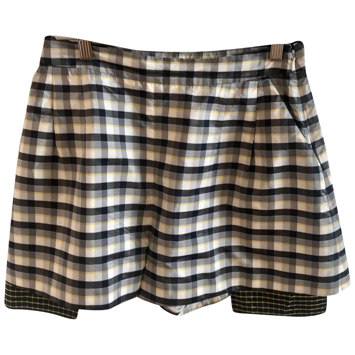 Dior \N Shorts in  Grau Seide