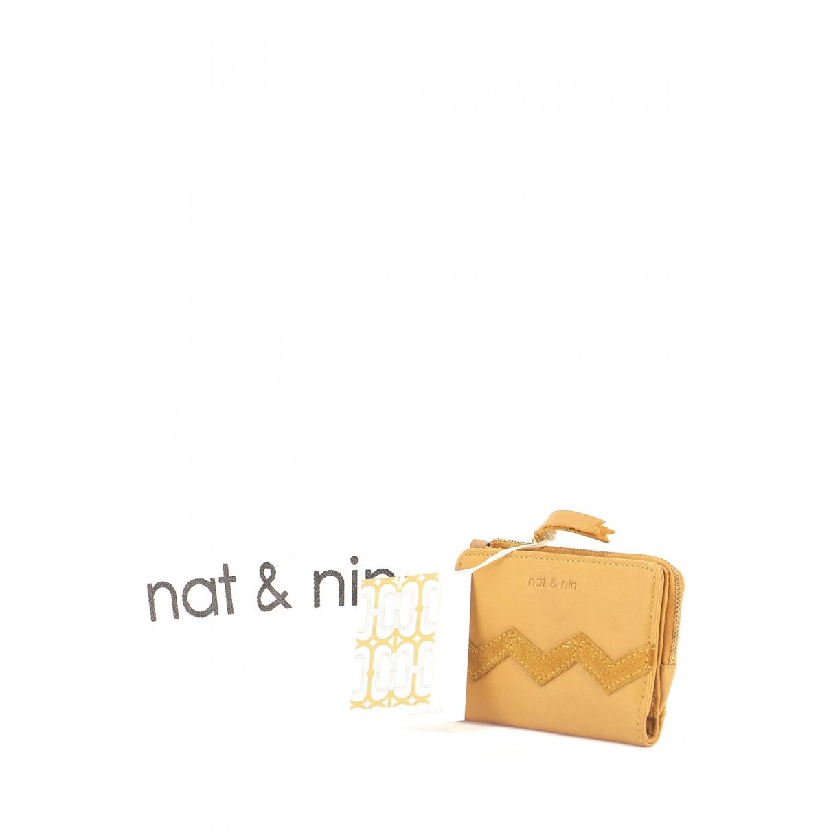 Nat & Nin - Portefeuille   pour femme en cuir - marron