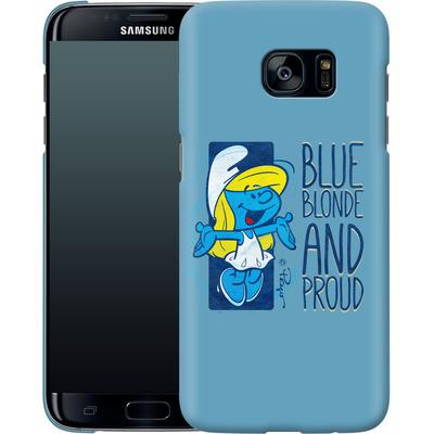 Samsung Galaxy S7 Edge Smartphone Huelle - Blue, Blond and Proud von The Smurfs
