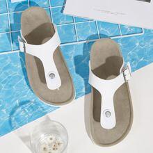 Flip-Flops mit Schnalle Dekor