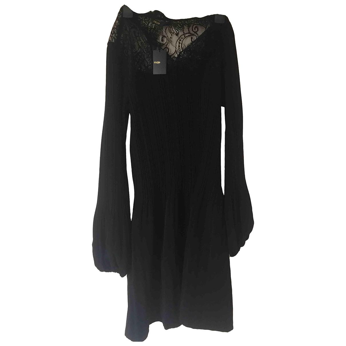 Maje Spring Summer 2020 Kleid in  Schwarz Polyester