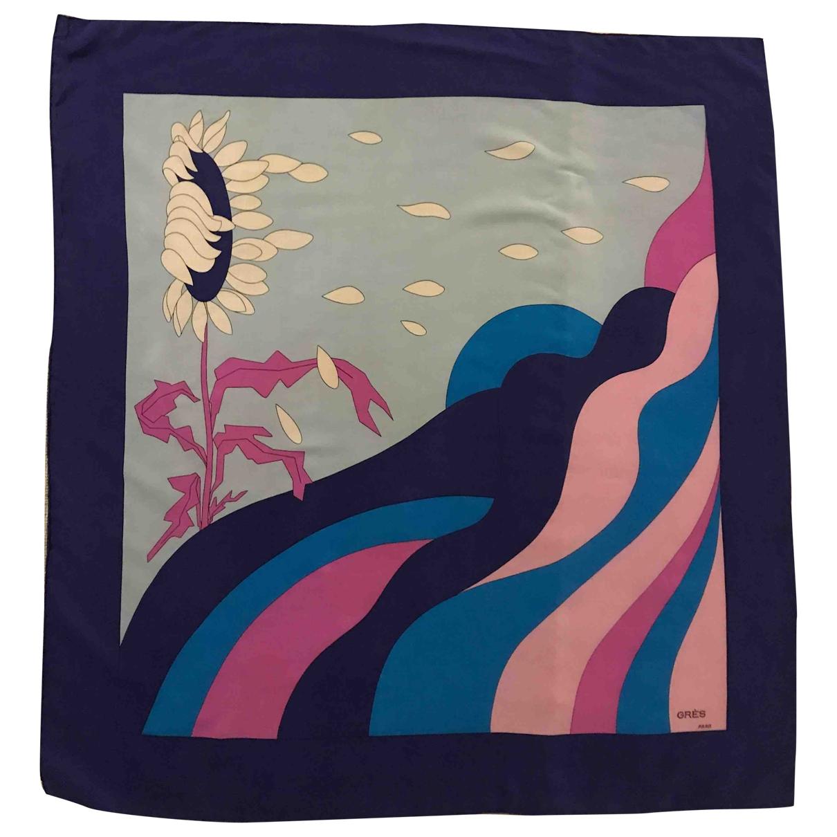Grès \N Blue Silk scarf for Women \N