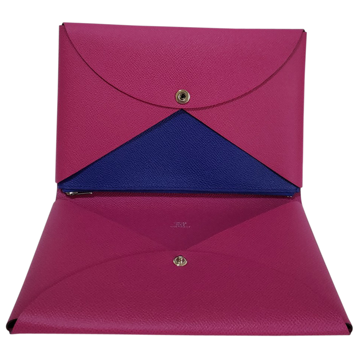 Hermès Calvi Purple Leather Purses, wallet & cases for Women N
