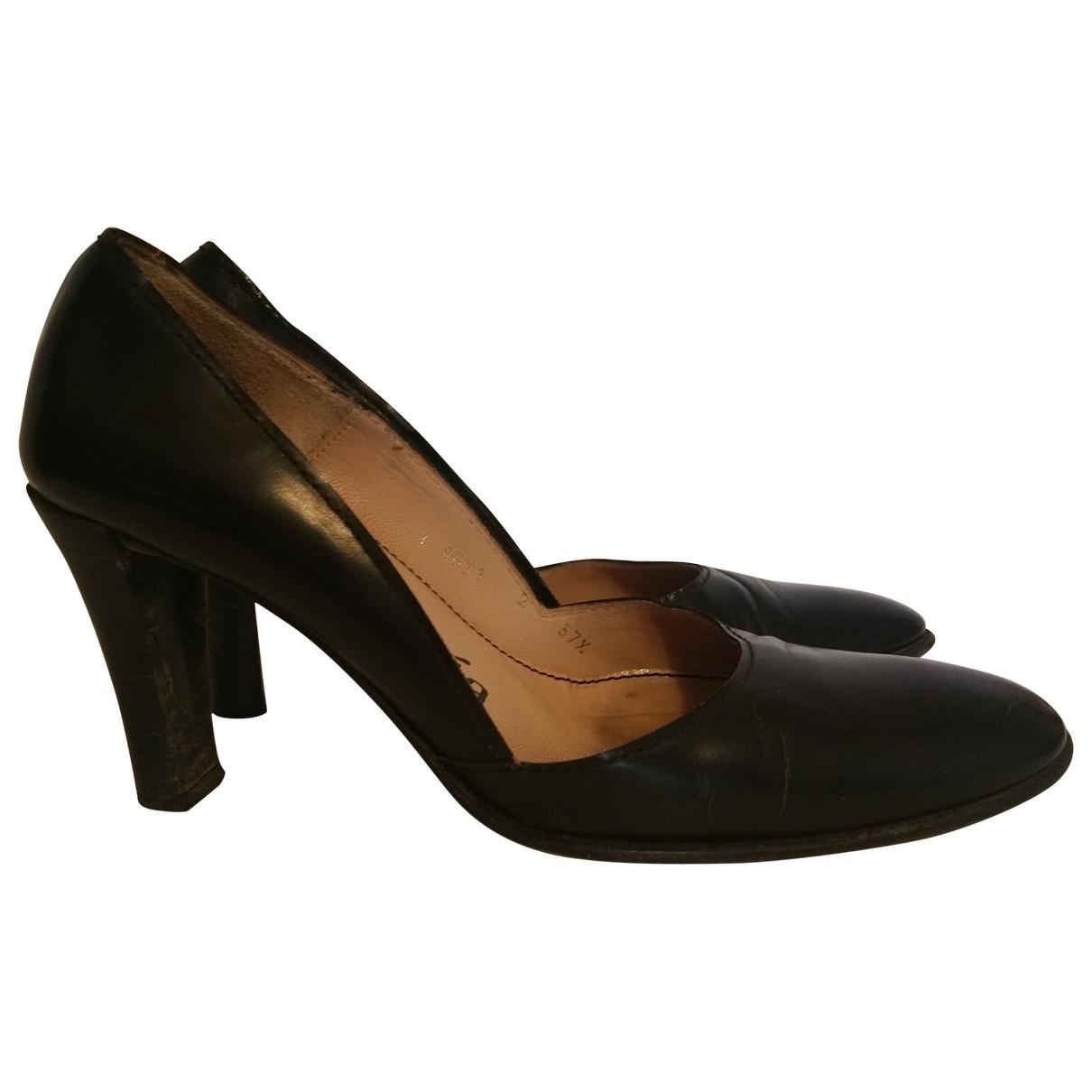 Pedro Garcia - Escarpins   pour femme en cuir - noir