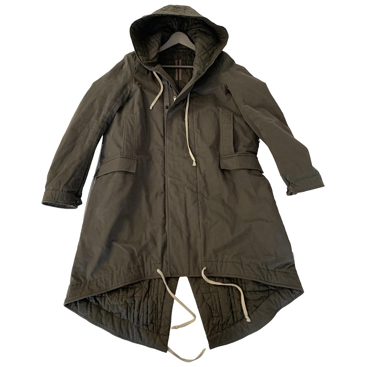 Rick Owens Drkshdw - Manteau   pour homme en coton - gris
