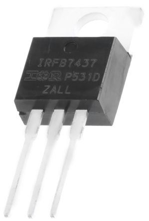 Infineon N-Channel MOSFET, 195 A, 40 V, 3-Pin TO-220AB  IRFB7437PBF