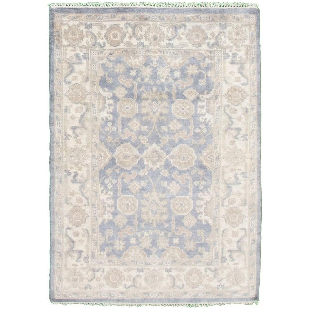 ECARPETGALLERY  Hand-knotted Royal Ushak Light Violet Wool Rug - 4'2 x 6'1 (4'2 x 6'1 - Light Violet)
