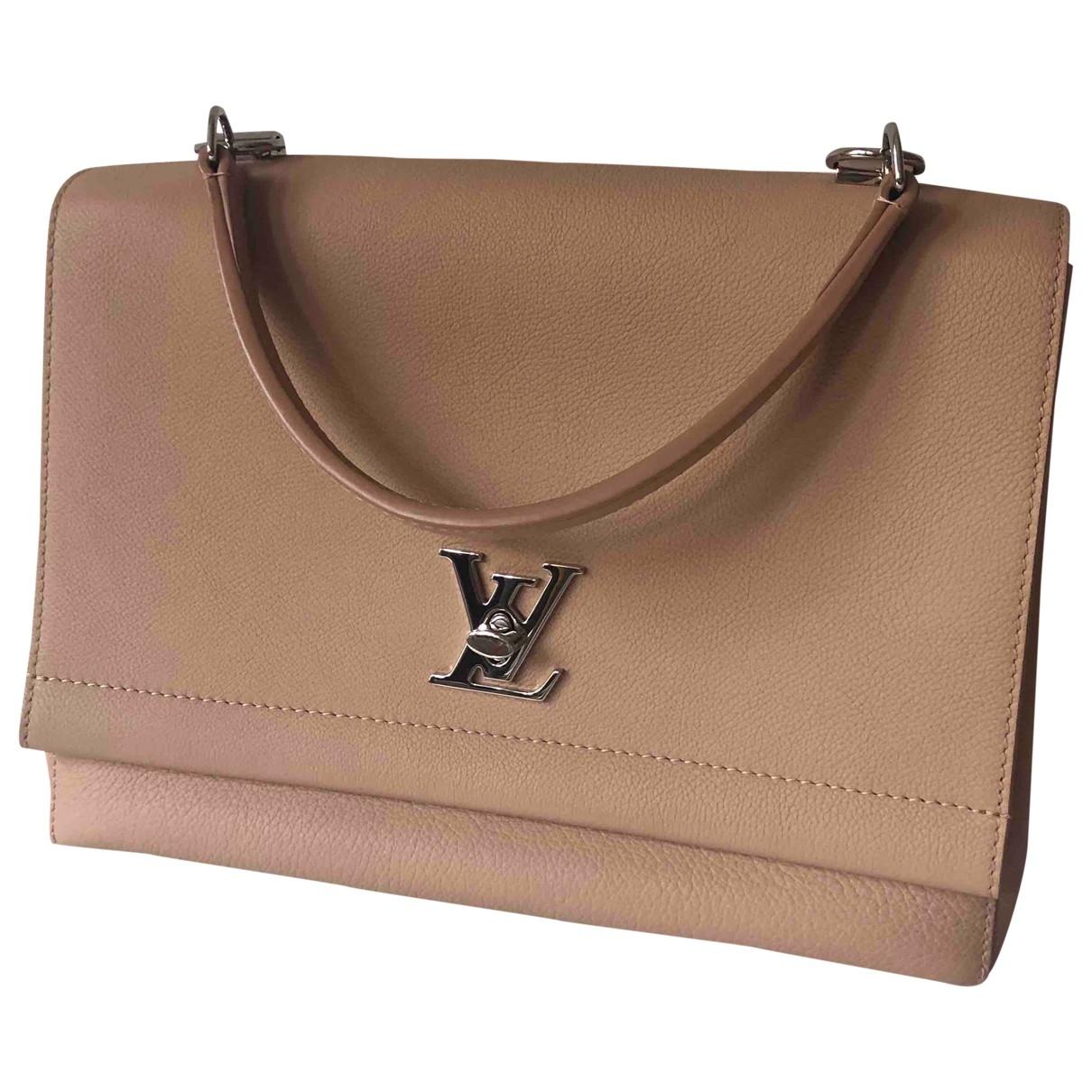 Louis Vuitton Lockme Beige Leather handbag for Women \N