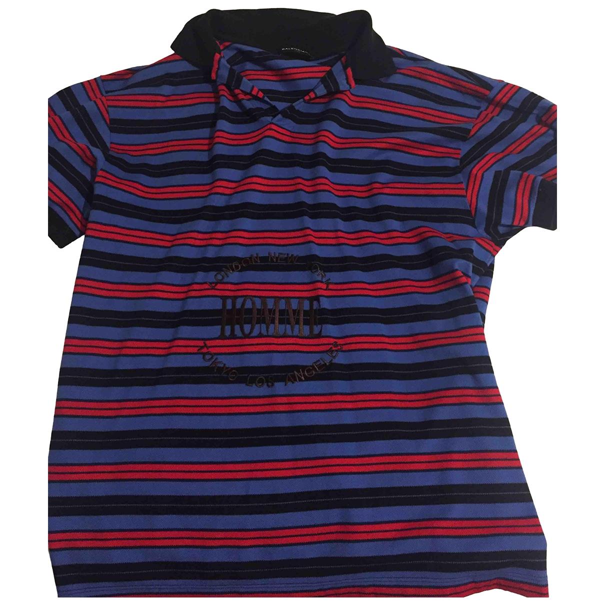 Balenciaga - Polos   pour homme en coton - multicolore
