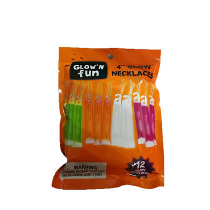 Colliers multicolores en plastique avec bâton luminescent 4