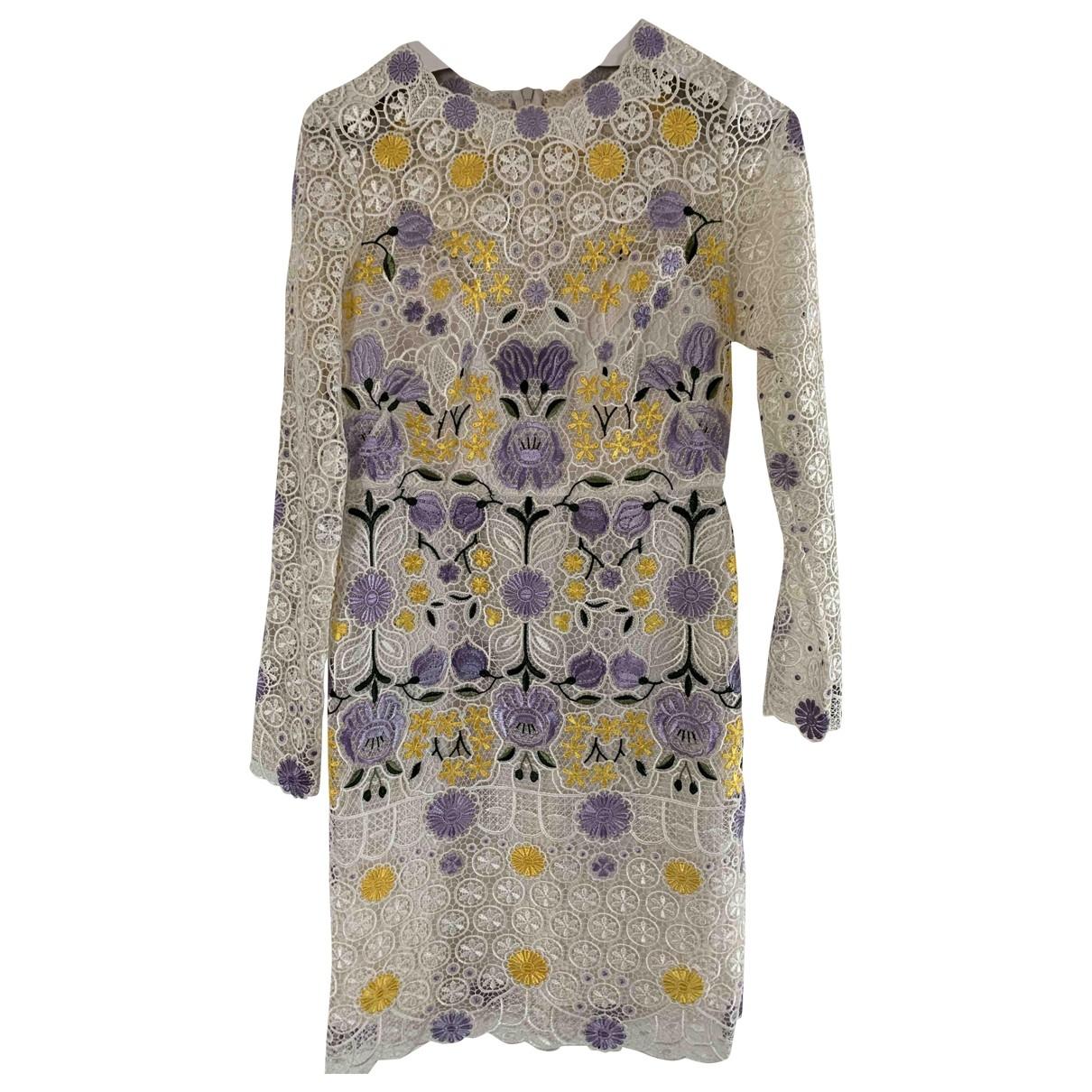 Karen Millen - Robe   pour femme en dentelle - blanc