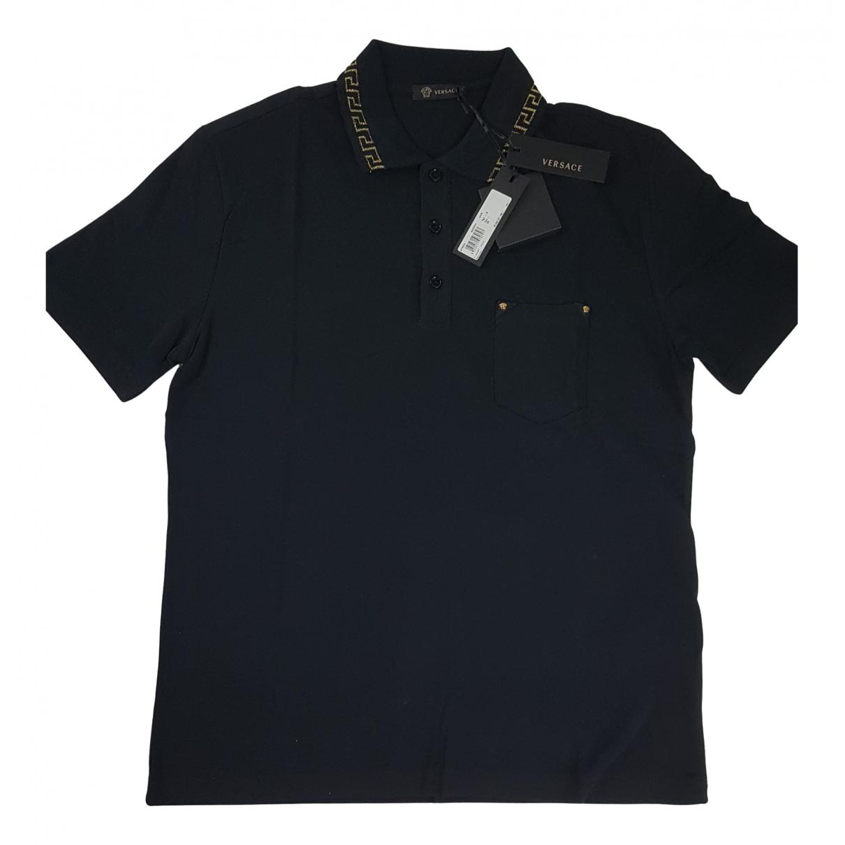 Gianni Versace - Polos   pour homme en coton - noir