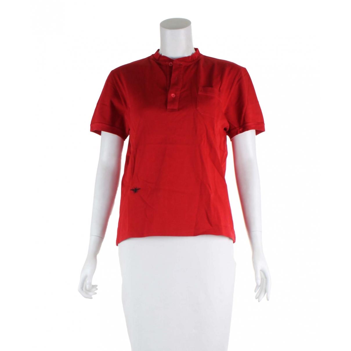 Dior - Polos   pour homme en coton - rouge