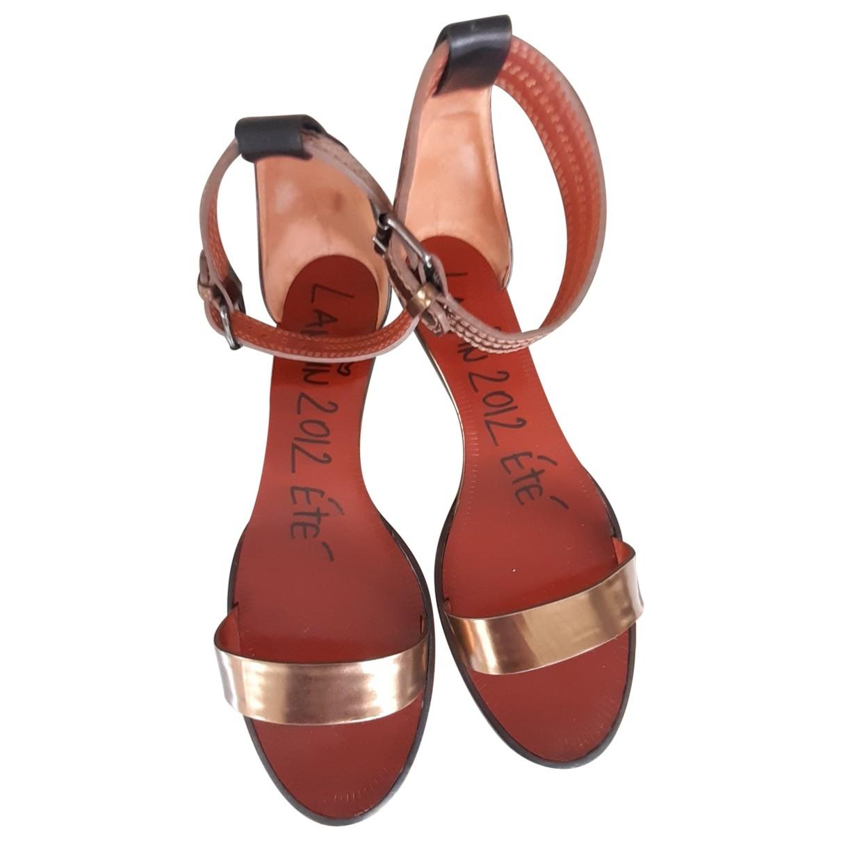 Lanvin \N Metallic Leather Sandals for Women 38 EU