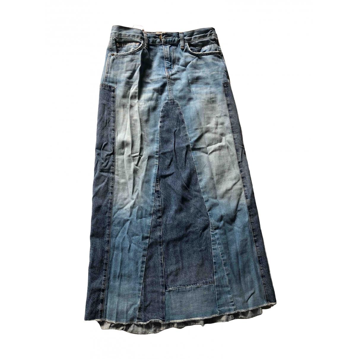 Current Elliott \N Blue Denim - Jeans skirt for Women 36 FR