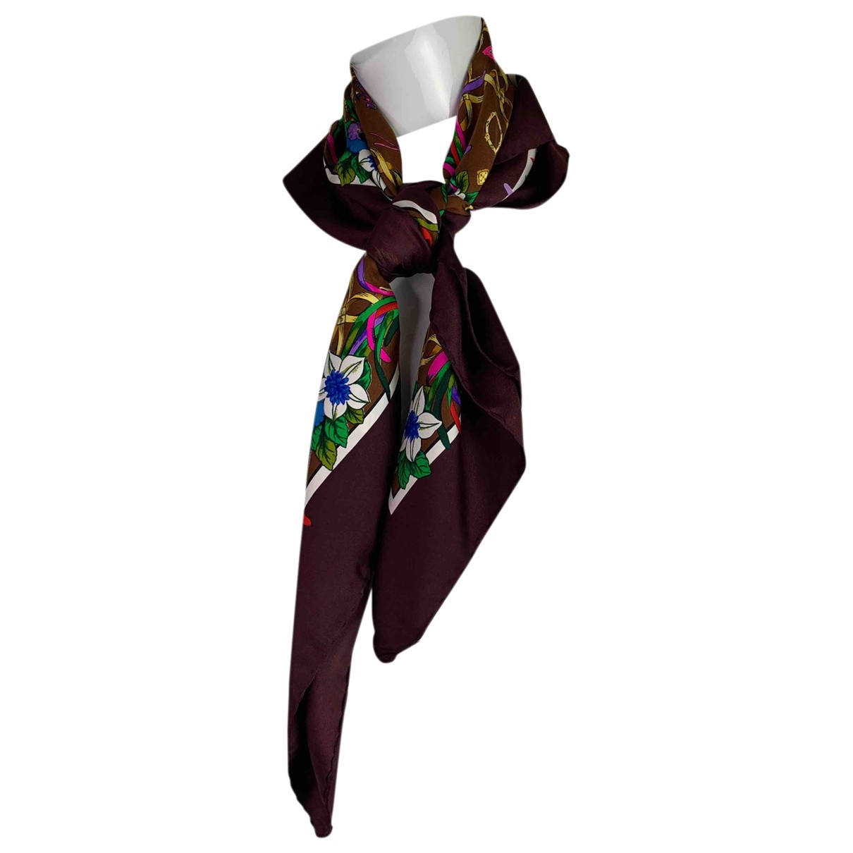 Karl Lagerfeld - Foulard   pour femme en soie - marron