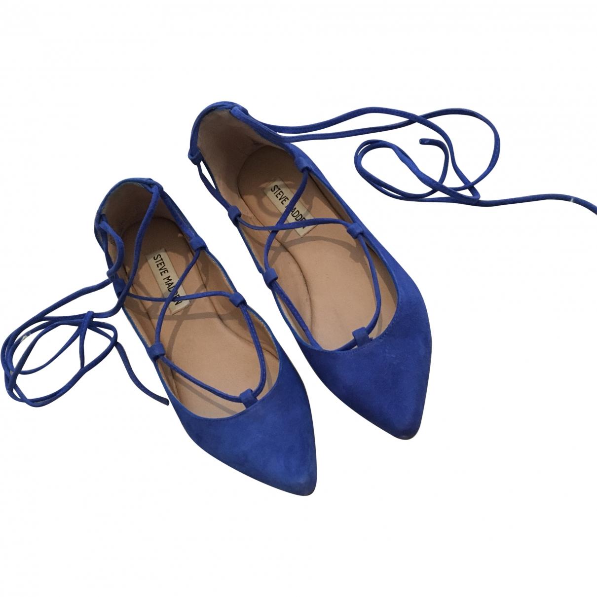 Steve Madden \N Blue Suede Flats for Women 6 US