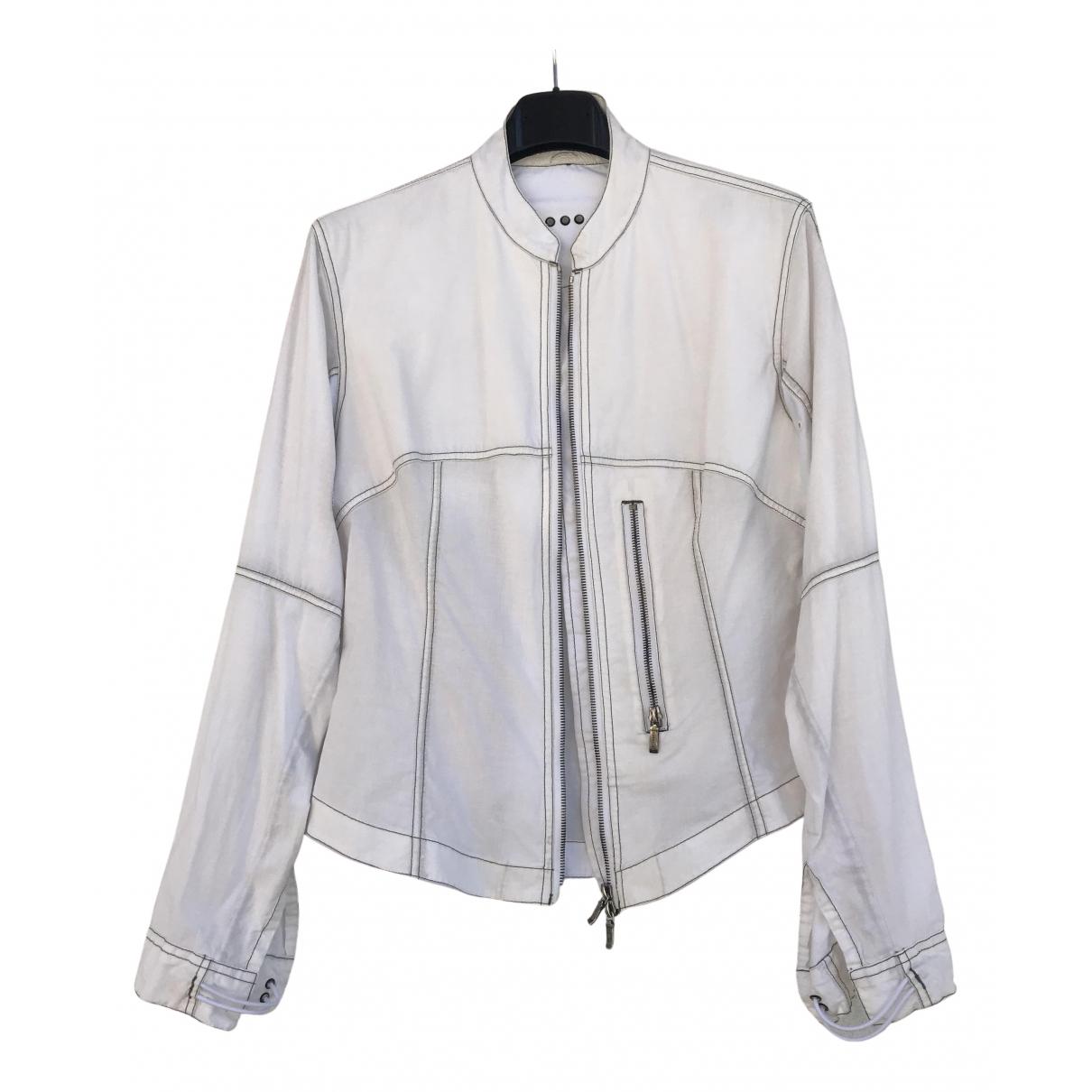 Maharishi - Veste   pour femme en coton - blanc