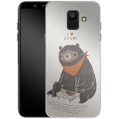 Samsung Galaxy A6 Silikon Handyhuelle - Sushi Bear von Louis Ros