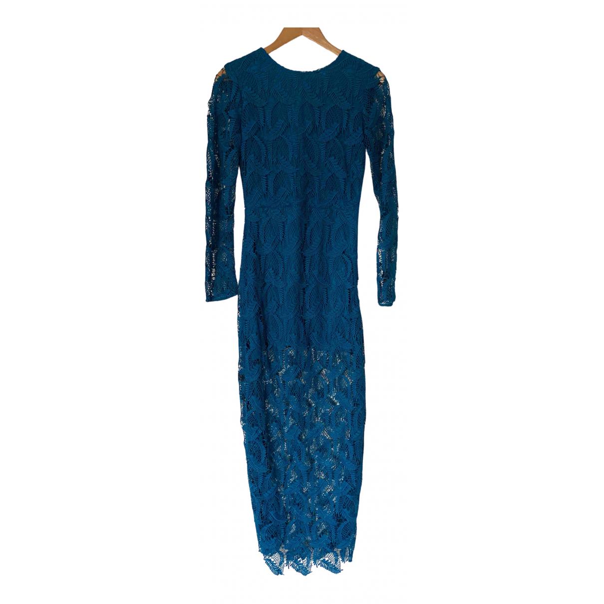 Maje \N Kleid in  Tuerkis Baumwolle